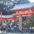 八坂神社で年越し初詣。西楼門に向かう四条通が歩行者天国化