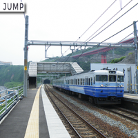 日本一、海に近い駅。JR青海川駅