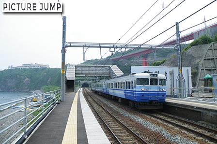 青海川駅構内