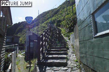 階段国道339号線の登り口