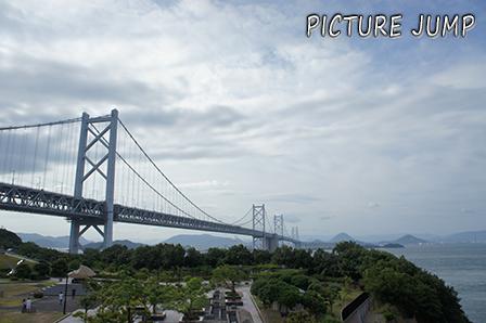 与島PAで撮影した瀬戸大橋