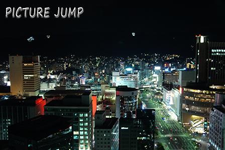 神戸市庁舎24階無料展望ロビーで夜景撮影(北側)
