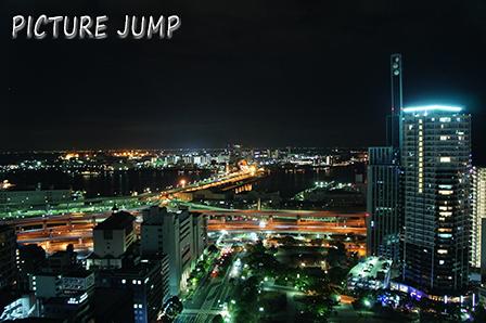 神戸市庁舎24階無料展望ロビーで夜景撮影(南側)