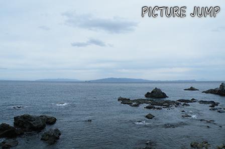本州・青森にある大間崎よりも南に位置する北海道最南端・白神岬