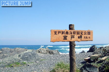 室戸岬で打ち寄せる波の高さに太平洋を体感
