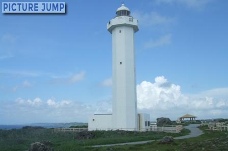 東平安名灯台でコバルトブルーの水平線を眺める360°パノラマ絶景
