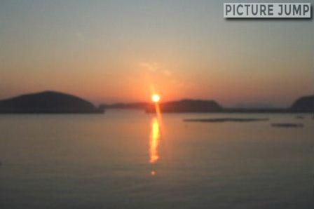 橋で結ばれた日本最西端の地 宮ノ浦漁港で夕日撮影