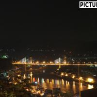 尾道散策 千光寺公園 展望台でライトアップされた尾道水道の夜景撮影