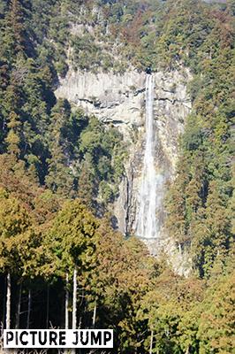 三重の宝塔から見る那智の滝
