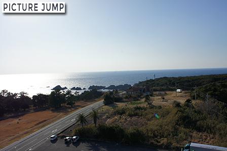 潮岬観光タワーの展望塔から西側