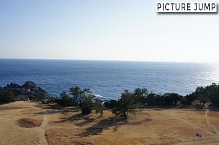 潮岬観光タワーの展望塔から南側