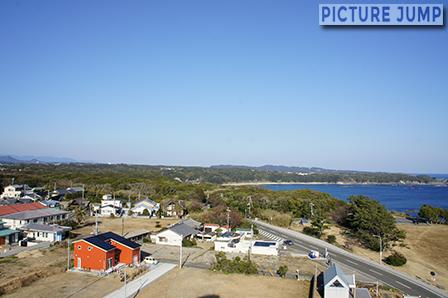 潮岬観光タワーの展望塔から東側