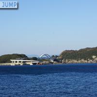 くしもと大橋は本州最南端のループ橋。堤防道路を通って苗我島ループを旋回