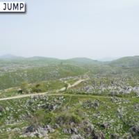秋吉台カルスト展望台 一面に広がる石灰岩