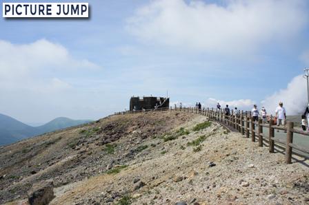 中岳噴火口 展望台