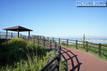 烏島展望所 桜島の対岸、鹿児島市内も一望
