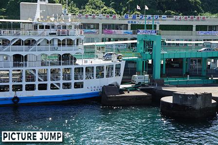 桜島フェリーで鹿児島湾わずか15分の船旅