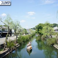 倉敷美観地区、倉敷川沿いの柳並木散策