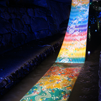 京の七夕 堀川沿いに飾られた、光と水と伝統作品の祭り