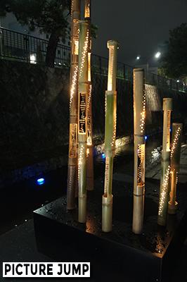 京の七夕 竹と光のアート作品