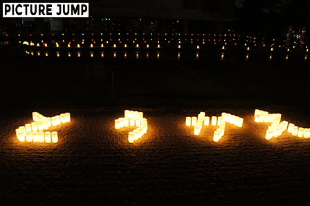 なら燈花会 奈良公園一面に敷かれた蝋燭が灯す光の絨毯