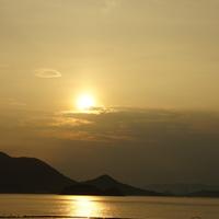 夏の夕暮れ 瀬戸田サンセットビーチ