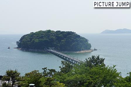 別角度から竹島全貌