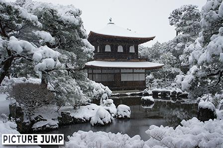 慈照寺(銀閣寺)の雪化粧