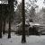 雪の大原 三千院。庭園に広がる青々しい苔は、雪の下