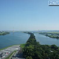 木曽三川公園 展望タワーから揖斐川・長良川・木曽川の三川を一望
