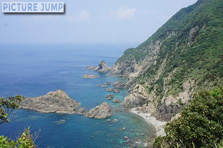 佐多岬 眺める海も透き通るようなコバルトブルー