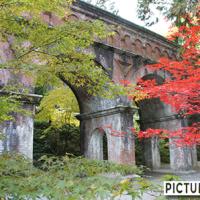 南禅寺の水路閣の風情ある水路橋は紅葉の名所