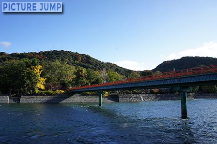 朝霧橋と紅葉