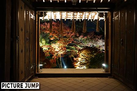 京都・山科 毘沙門堂 薬医門を額縁に見立てて紅葉撮影