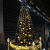 京都駅ビル 22m巨大クリスマスツリー 大階段の上にてツリーが3つ出現するポイントを発見