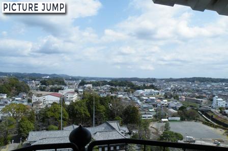 掛川城天守閣からの眺望