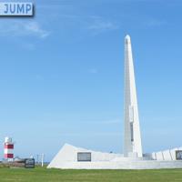 宗谷岬平和公園に建てられた世界平和を祈る数々のモニュメント