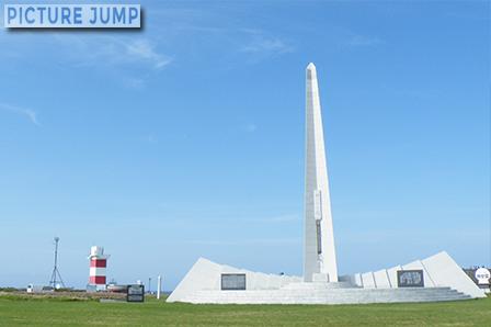 宗谷岬平和公園 宗谷岬灯台と祈りの塔
