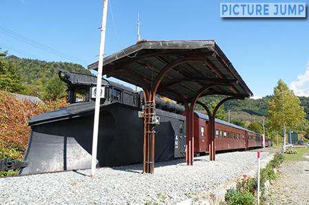 三菱大夕張鉄道車両が保存されている南大夕張駅に臨時停車
